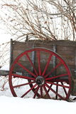 Old cart in winter Stock Photography