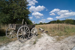 Old Cart Wooden In A Rural Scene Royalty Free Stock Photo