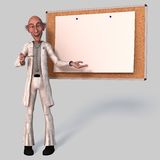 Old Cartoon Doctor Royalty Free Stock Photography