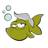 Old cartoon fish Stock Photo