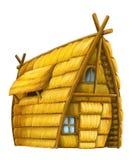 Old cartoon hay house - isolated Stock Photos
