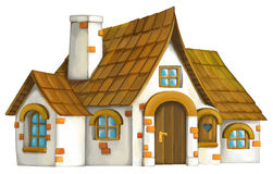 Old cartoon house Royalty Free Stock Images
