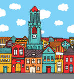 Old cartoon town Stock Photography