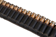 Old cartridge belt Stock Image