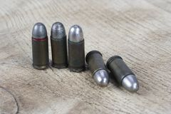 Old cartridges 7.65 mm. Caliber Royalty Free Stock Image