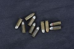 Old cartridges 7.65 mm. Caliber Stock Photography