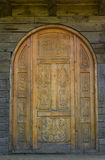 Old carved door Stock Photography
