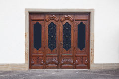 Old carved doors Stock Images