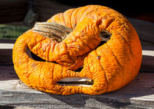 Old carved pumpkin Royalty Free Stock Photography