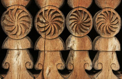 Old carved wood Stock Photo
