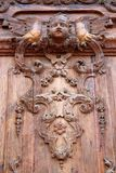 Old carved wooden door Royalty Free Stock Image