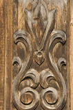 Old carved wooden ornament Royalty Free Stock Image
