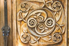 Old carved wooden ornament Royalty Free Stock Photo