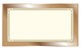 Photo frame. Old carved wooden photo frame isolated on a white background Royalty Free Stock Images
