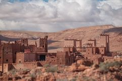Old casbah village in Morocco stock images
