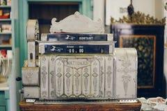 Old cash register. Machine retro royalty free stock image