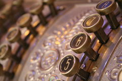 Old Cash Register. An old cash register found in Curitiba, Brazil Royalty Free Stock Photo