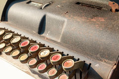 Old cash register. At antiques market Stock Photos
