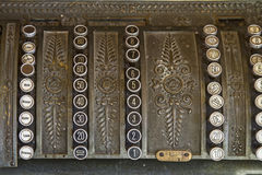 Old cash register. As they were used decades ago Royalty Free Stock Image