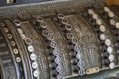 Old cash register. As they were used in the Decades ago Royalty Free Stock Images