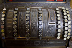 Old Cash register. Buttons detail Royalty Free Stock Photos
