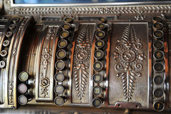 Old cash register. 19 century Stock Images