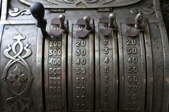 Old cash register. 19 century Royalty Free Stock Photo