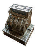 Old cash register. The old cash register isolated on white background Royalty Free Stock Image