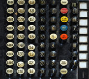 Old Cash Register Key Royalty Free Stock Image