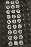 Old Cash Register Keys Stock Images