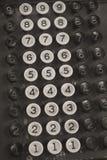 Old Cash Register Keys. A Black and White Picture of Old Cash Register Keys vector illustration