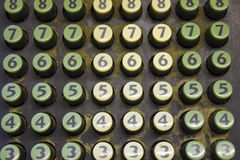 Old Cash Register Keys Stock Photos