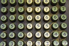 Old Cash Register Keys. A Picture of Old Cash Register Number Keys vector illustration