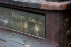 Old cash register machine. With rust on it Royalty Free Stock Photos