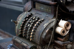 Old cash register machine Stock Image
