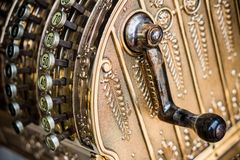 Old cash register. Photo of an old cash register ideal for year end financial reports (Balance sheet and P&L Stock Images