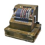 Old cash register to store isolated. White royalty free stock images
