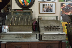 Old Cash Registers at Ileana Sanchez House-Camaguey,Cuba Royalty Free Stock Photo