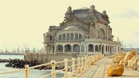 Old casino in Constanta, Romania stock video