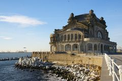 Old Casino in Constanta, Romania, on the promenade of the Black Sea Stock Photos