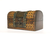 Old casket for jewelery Stock Photography