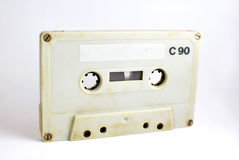Old Cassette. Photo of an old cassette against a white background. This is a made in Western Germany cassette Stock Image