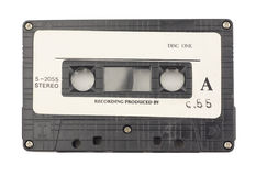 Old cassette. Close-up of a music cassette royalty free stock photography