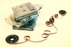 Old cassette music Royalty Free Stock Images