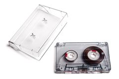 Old Cassette Music And Box. Stock Photography