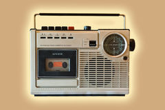 Old cassette player Stock Images