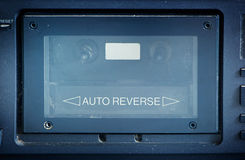 Old cassette player box Royalty Free Stock Images