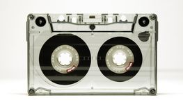 Old cassette tape. Isolated over a white background stock image