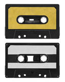 Old cassette tape. Isolated on white royalty free stock photo