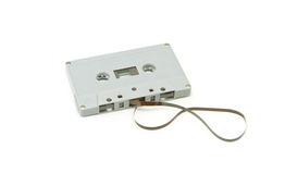 Old cassette tape. On white background Stock Image
